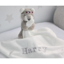 The Little White Company Personalised Teddy Bear Comforter / Baby blankets /Baby Snuggle