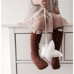 Fox Knee Socks - Mini Dressing - Brown size S (1-2 years)