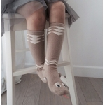 Snake Children`s Knee High Socks / Baby warmers / Toodler socks Beige Size M (3-4 yrs.)