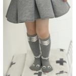 Snake Children Knee High Socks / Baby warmers / Toodler socks Grey Size M (3-4 yrs)