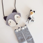 SET Fox Grey Bag + Knee Socks - Mini Dressing