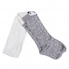Girl Raccoon Tights Cotton Cute Children Stocking Baby Pantyhose Grey Size S (1-2 yrs)