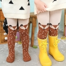 Girl Raccoon Tights Cotton Cute Children Stocking Baby Pantyhose Brown Size S (1-2 yrs) Mini Dressing