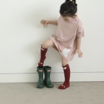 Bear Children`s Knee High Socks / Baby warmers / Toodler socks Claret Size M (3-4 yrs)
