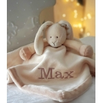 Personalised Teddykompaniet RABBIT Baby Cuddle Comforter Blanket