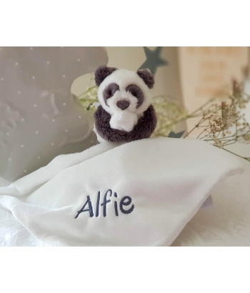 The Little White Company Personalised PANDA Bear Snuggle /Baby blankets/ Baby Shower Gift