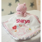 Personalised PEPPA PIG Baby Comforter / Security Blanket