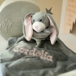 Personalised BoBo Buddy Comforter / BoBo's Story Character / Security Baby Blanket / Baby's friends - BUNNY