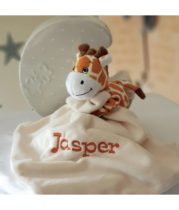 Personalised BoBo Buddy Comforter / BoBo's Story Character / Security Baby Blanket / Baby's friends - GIRAFFE