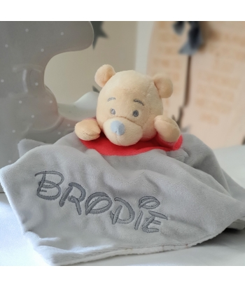 Personalised Disney Winnie The Pooh Baby Comforter / Blanket / Soother Blanket / Baby Gift / Baby Shower Gift / New Baby Gift