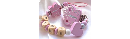 Personalised Wooden Dummy Clip / Chain